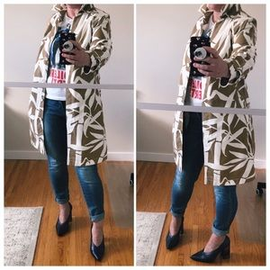 Escada Sport Abstract Print Tailored Cotton Coat
